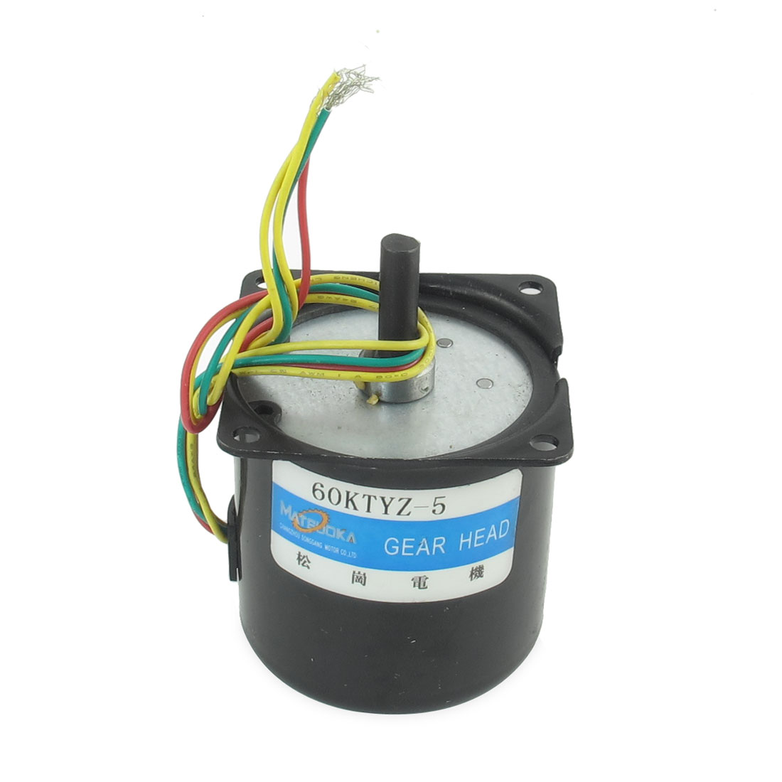 AC 220V 5RPM 7mm Shaft Diameter Machine Synchronous Gear Motor Black