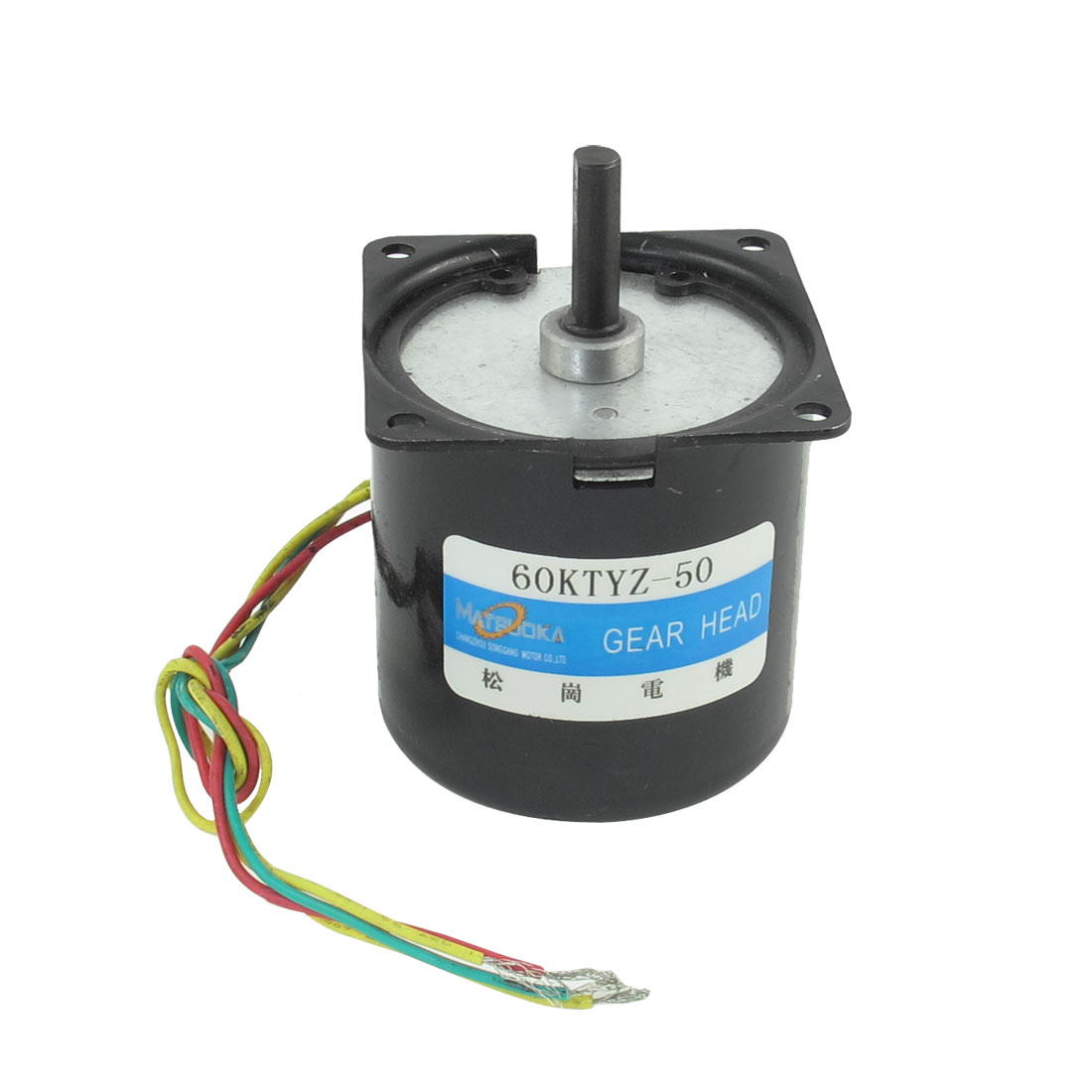 Black 220V 50RPM 14W 7mm Shaft Diameter Synchronous Reduction Gear Motor