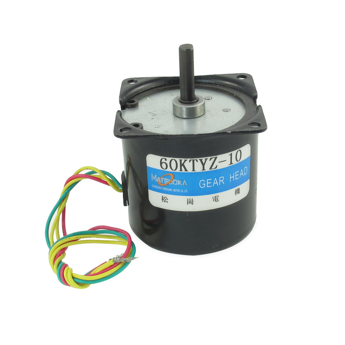 60mm Diameter Synchronous Reduction Geared Motor Black 220VAC 10RPM 14W