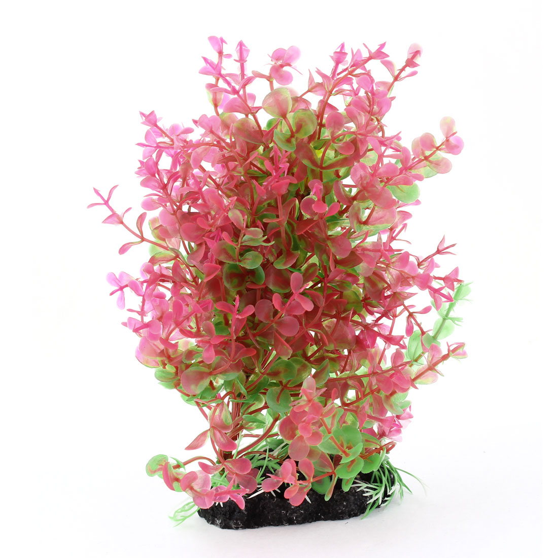 "Pink Green Fish Tank Aquarium Decoration Manmade Plastic Plant Grass 7.7"" High"