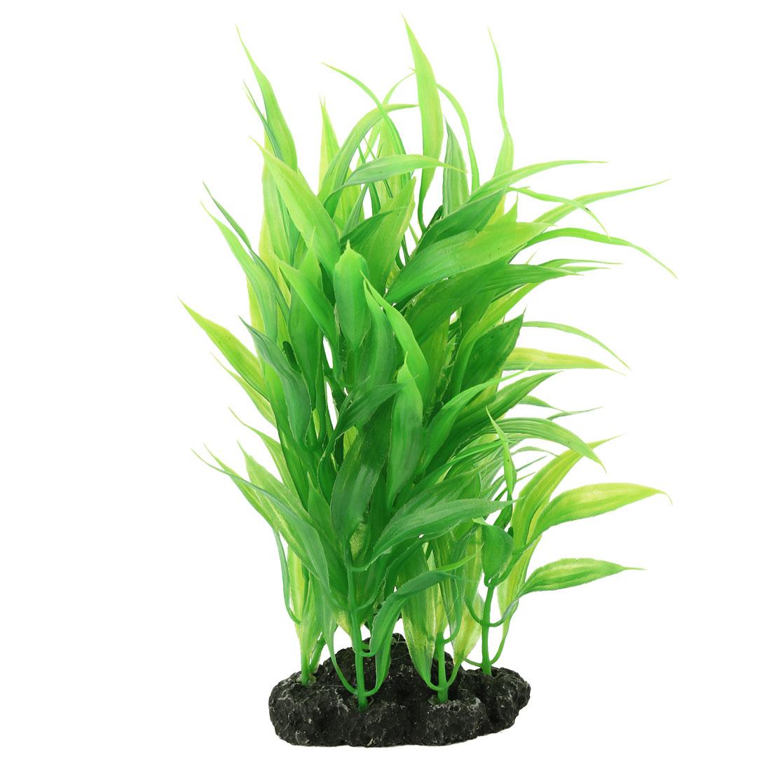 """8.3"""" High Artificial Plastic Plants Grass Green for Fish Tank Aquarium"""