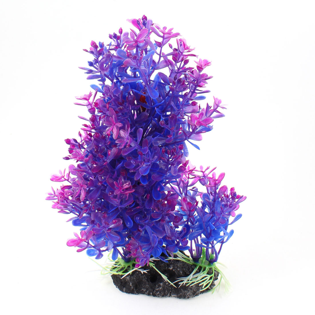 "Fish Tank 8.3"" Height Blue Purple Emulational Water Plant Grass Decor"