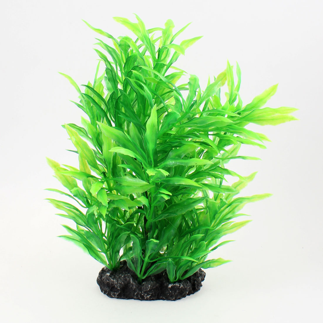 "8.1"" Height Green Grass Plastic Plants Decoration for Fish Tank"