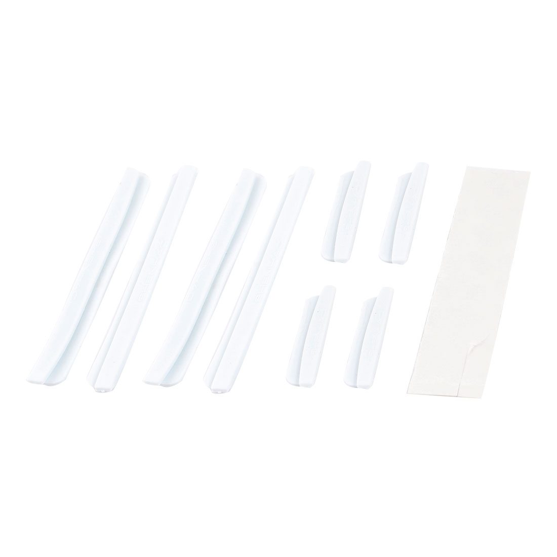 Car Auto White Plastic Door Rim Protective Protector Stickers 8Pcs