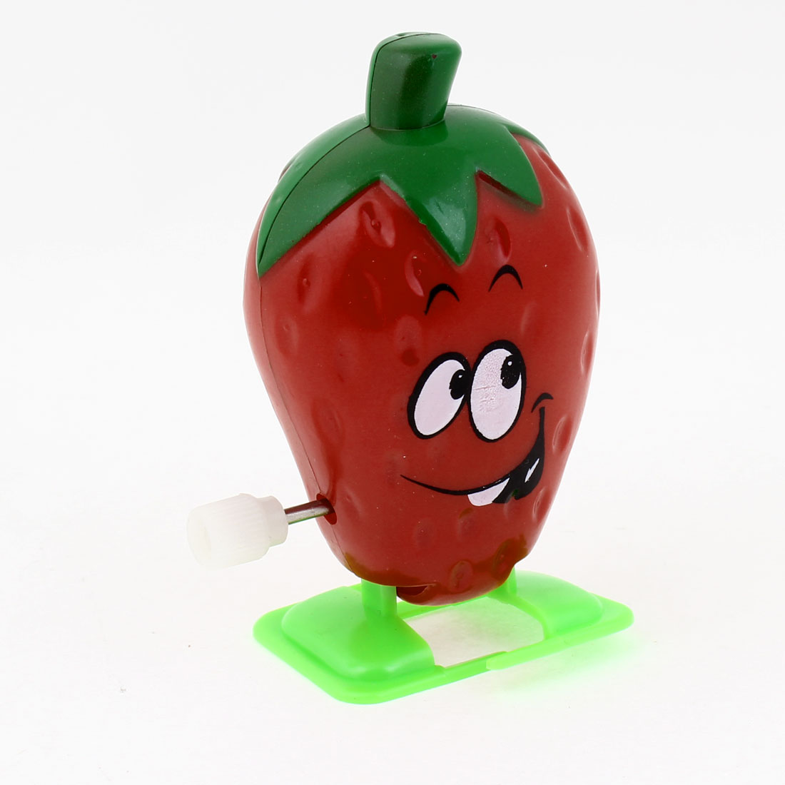 Strawberry Shape Red Green Plastic Artificial Walking Clockwork Toy for Children