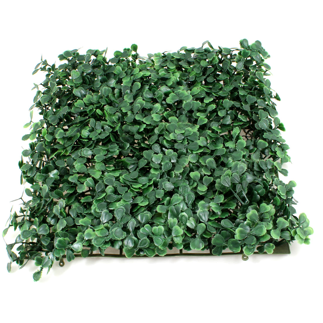 "9.8"" x 9.8"" Aquarium Green Plastic Grass Lawn Mat Turf Ornament"