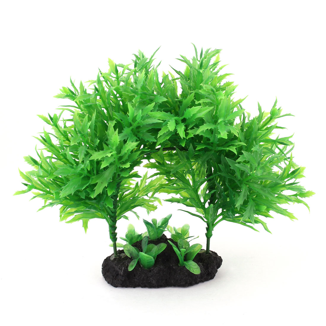 "5.9"" Height Underwater Manmade Plastic Plants Grass Green for Fish Tank"