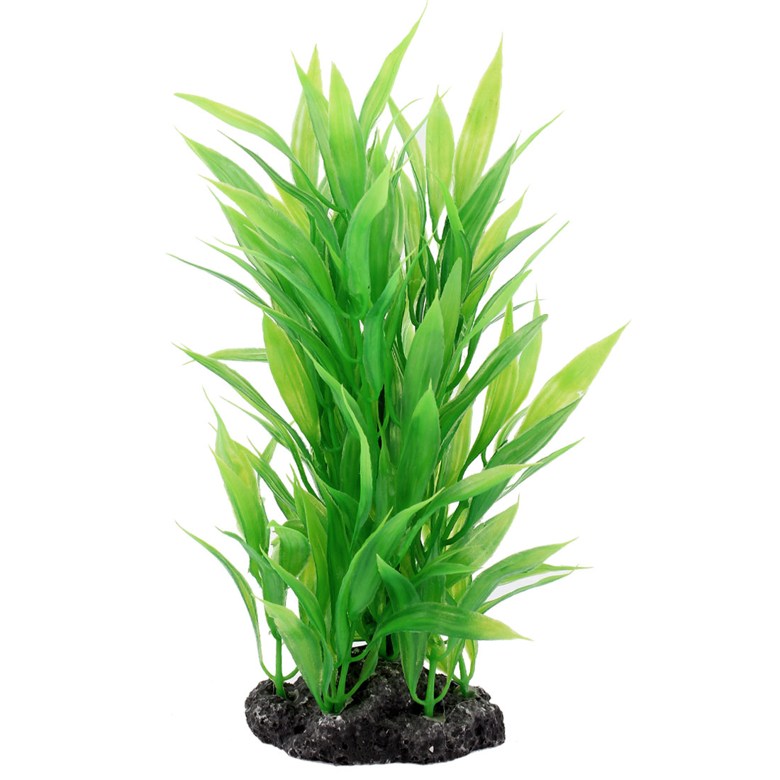 "8.7"" Height Green Manmade Underwater Plastic Plants Grass For Fish Tank"