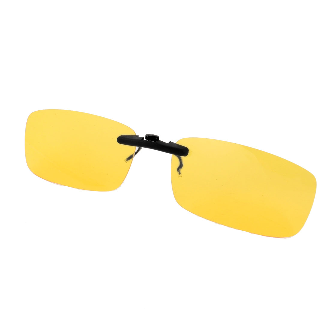 Outdoor Sports Rectangle Clear Yellow Lens Polarized Sunglasses w Box