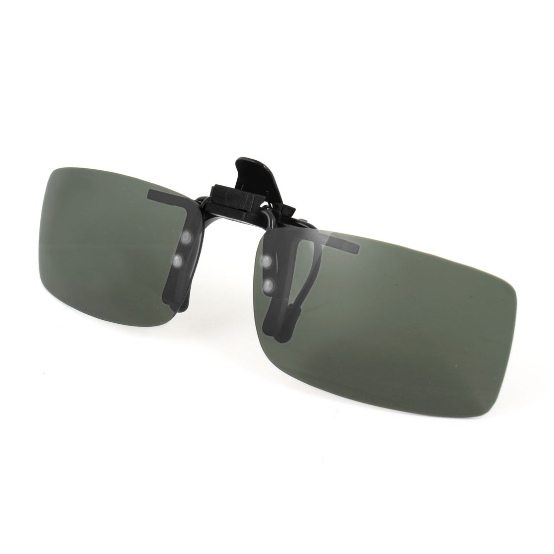 Rectangle Clear Army Green Lens Outdoor Sports Polarized Sunglasses w Box