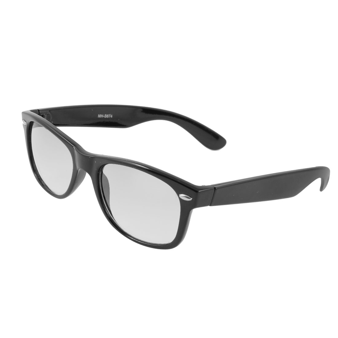Outdoor Sports Rectangle Lens Black Full Frame Sunglasses for Lady
