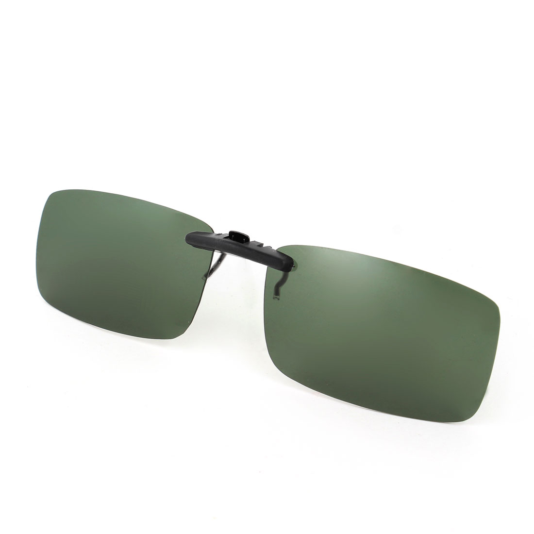 Ultraviolet Ray Protect Clip on Polarized Sunglasses Army Green w Case