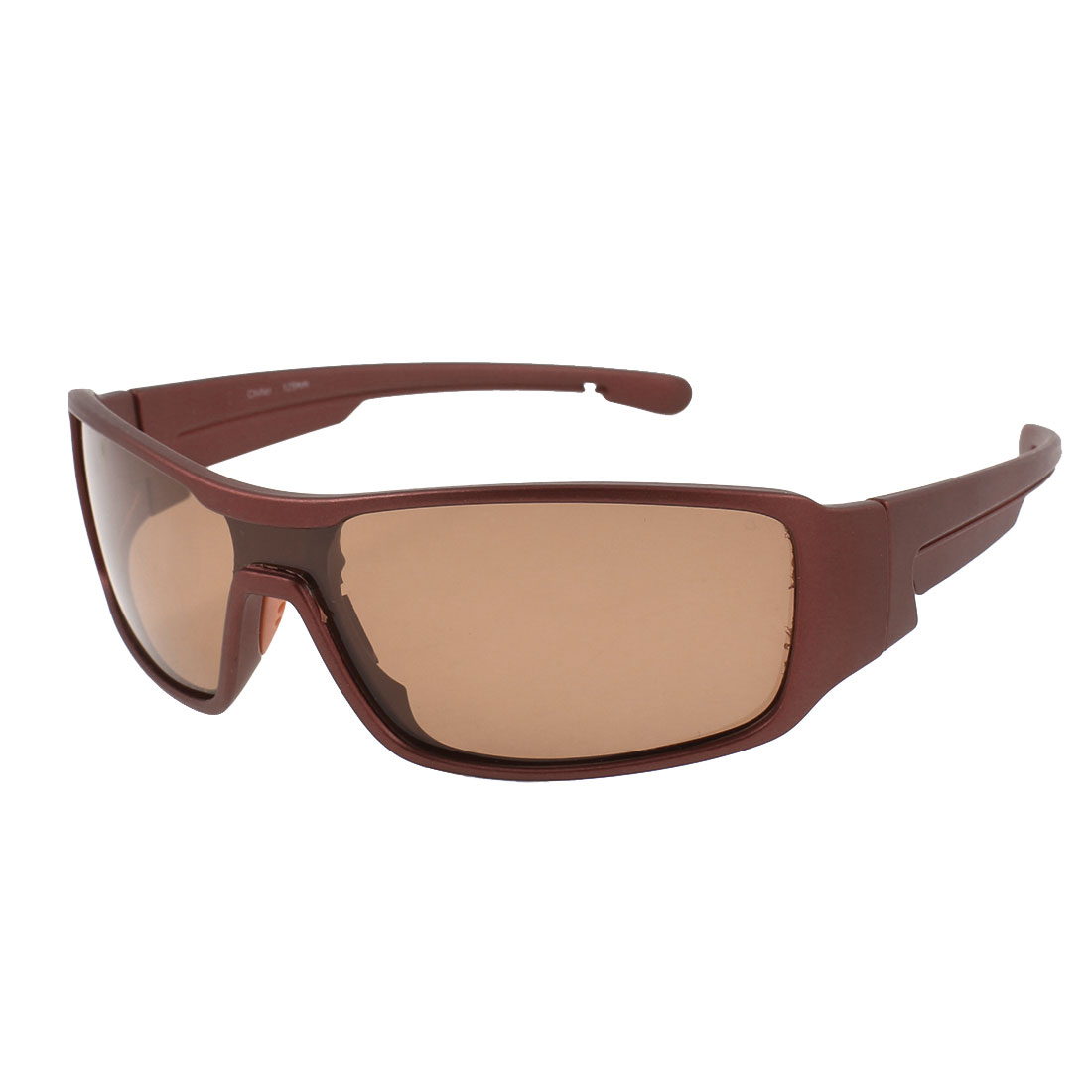 Burgundy Full Frame Brown Sports Polarized Sunglasses for Lady
