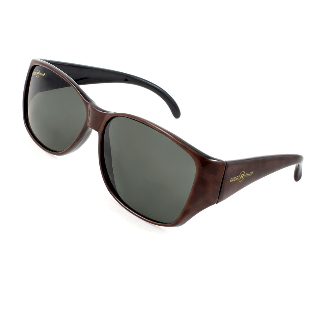 Chocolate Color Leopard Printed Full Frame Oval Tinted Lens Eyeglasses for Woman