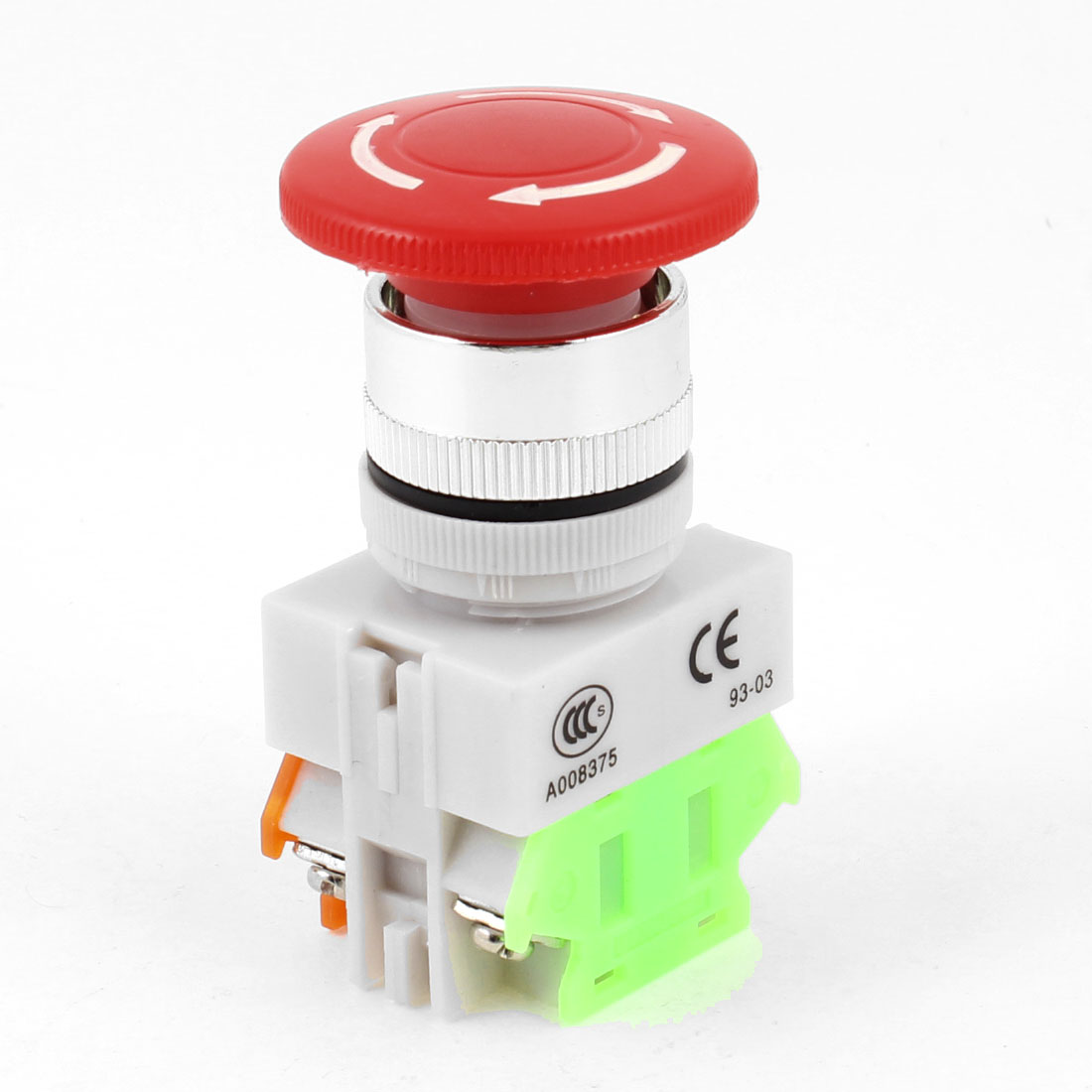 AC 600V 10A 40mm Dia Red Sign Rotary Mushroom Emergency Stop Push Button Switch