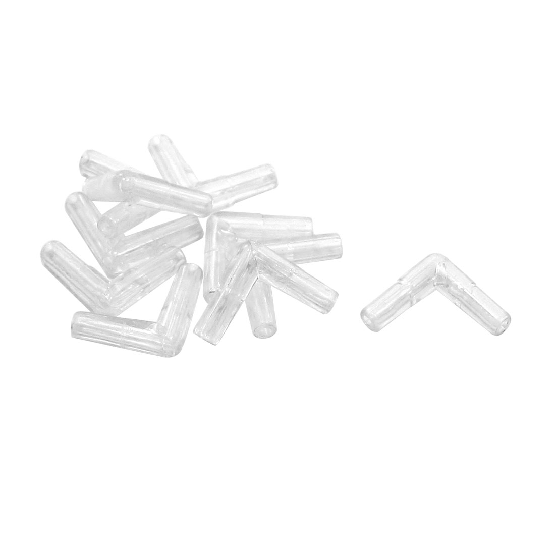 Aquarium L Shape Plastic Valve Tubing Air Line Connector 10 Pcs