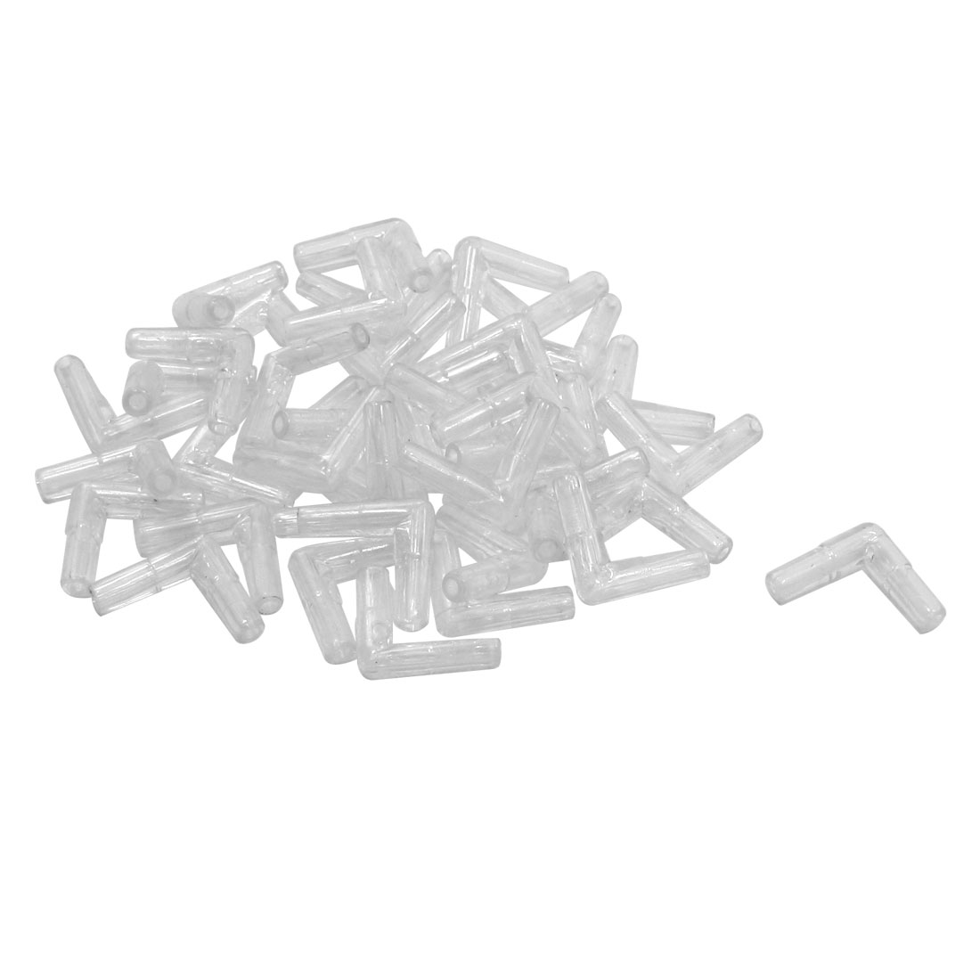 40 Pcs 2 Way L Shape Pump Air Tubing Line Connector for Fish Tank