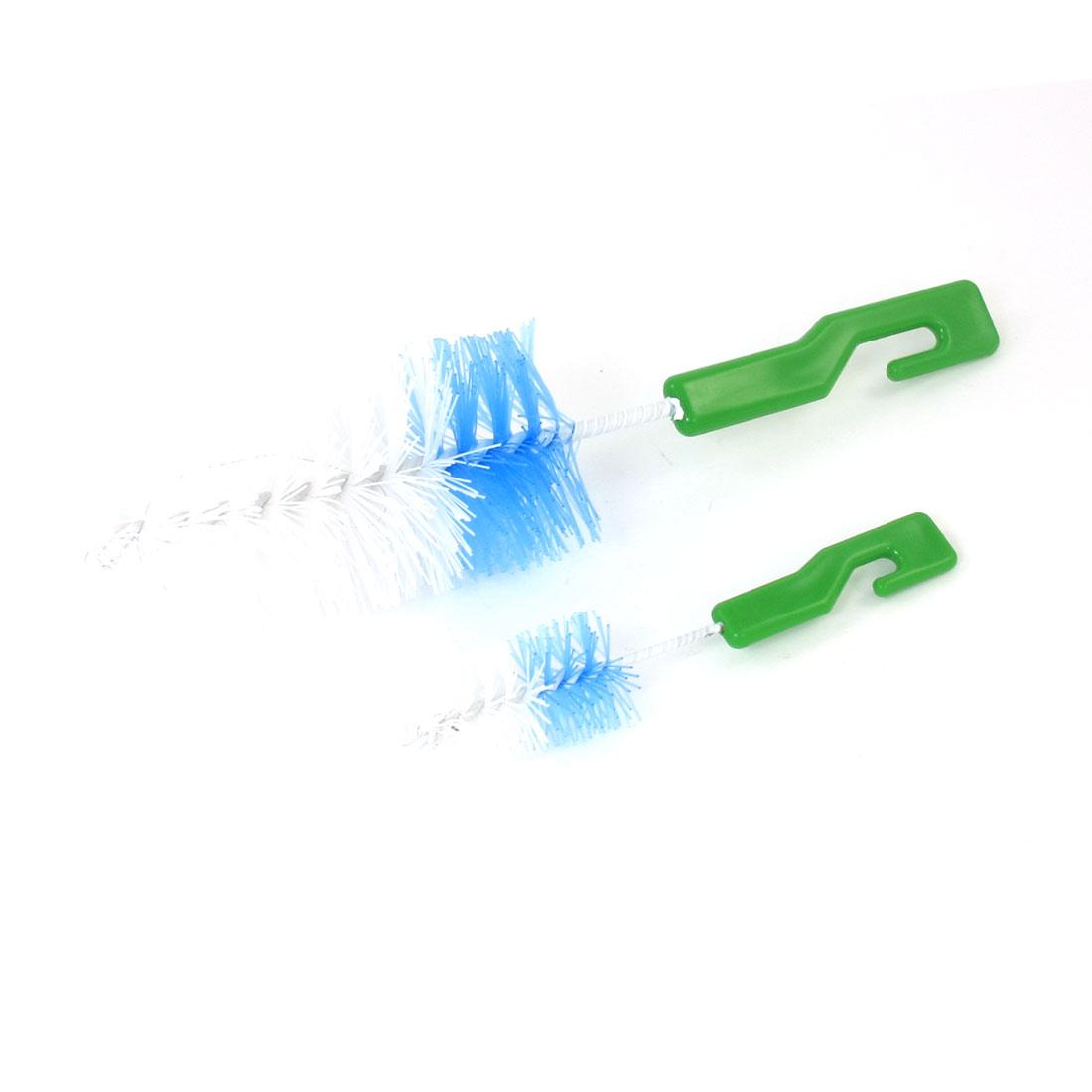 Hanging Hook Design Plastic Handle Milk Bottle Nipple Cleaning Brush 2pcs