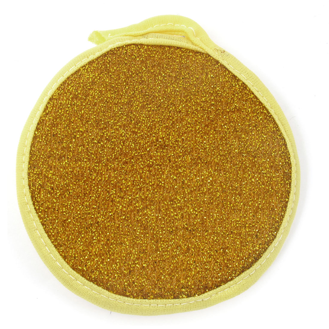 Yellow Gold Tone Bowl Dish Scrubber Pad Sponge for Kitchen