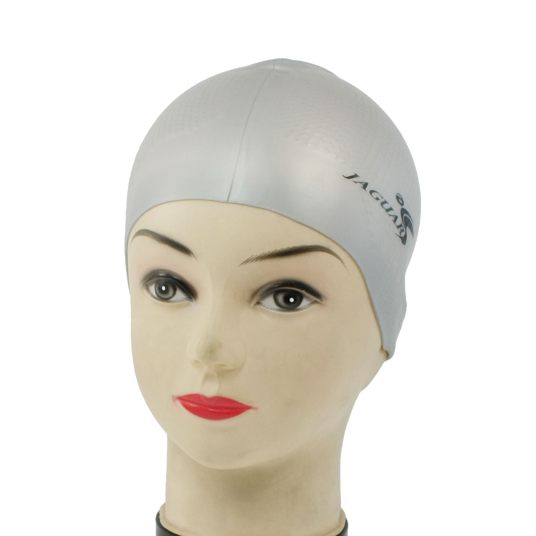 Stretchable Swimming Diving Sports Cap Light Gray for Adults