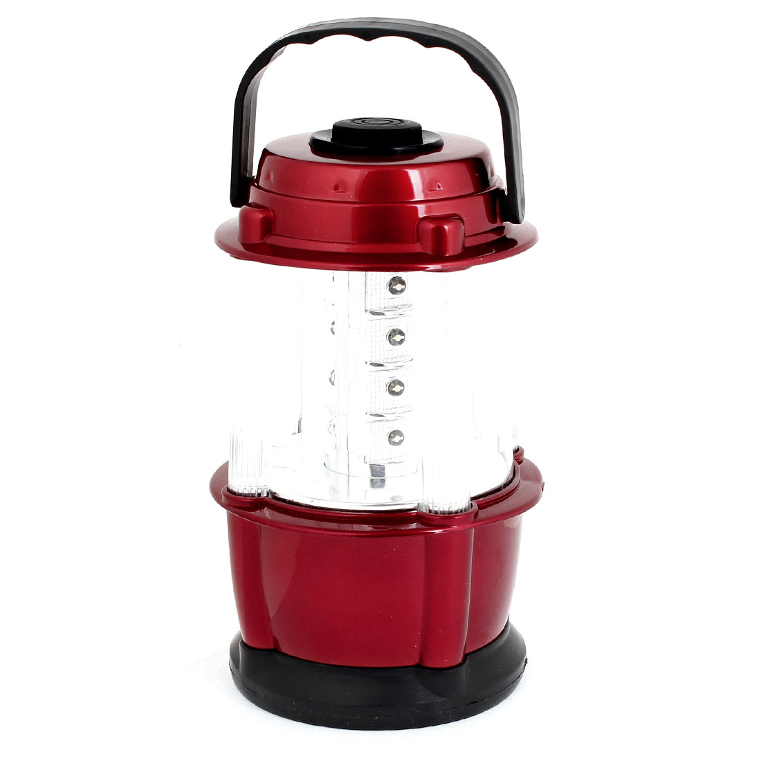 Burgundy Housing Battery Powered 12 White LED Bivouac Camping Light Lamp Lantern