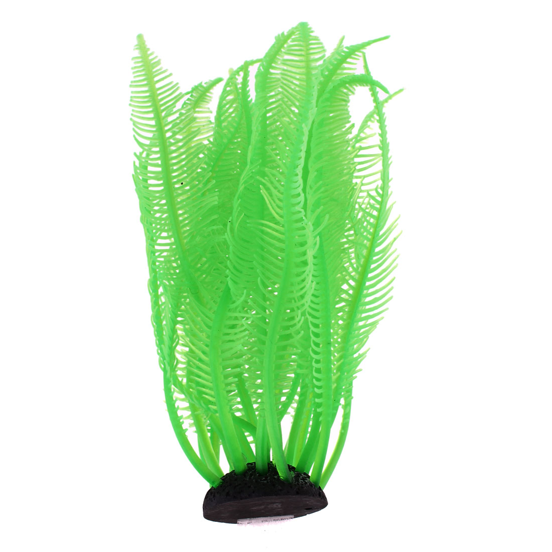 12cm Height Green Silicone Manmade Water Grass Decor for Fish Tank