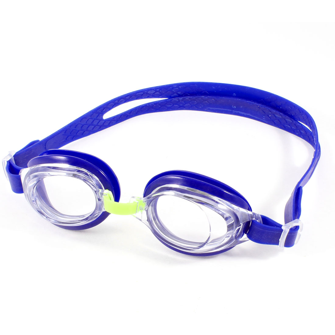 Blue Clear Adjustable Silicone Belt Swimming Goggles for Children