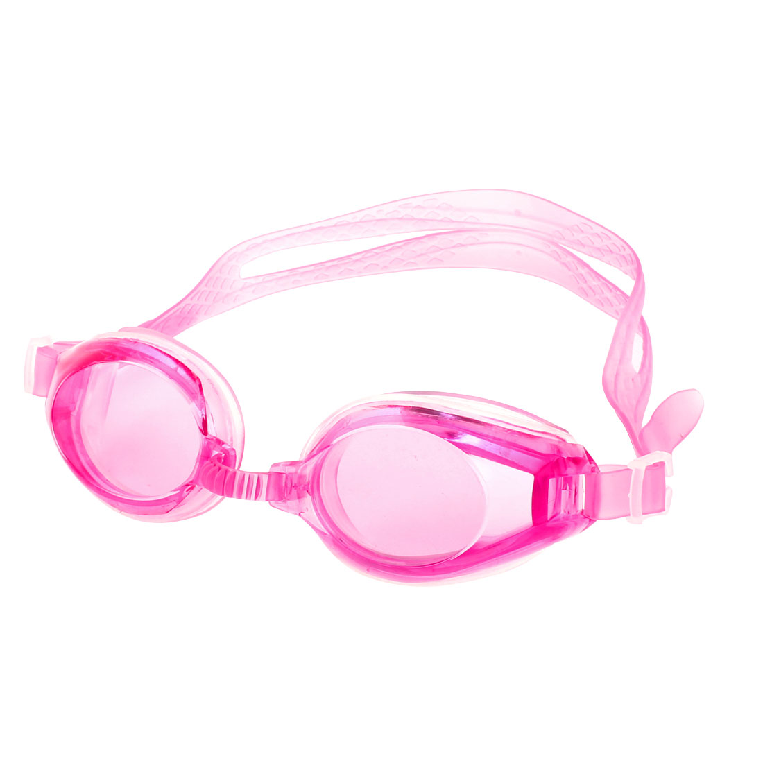 Women Men Plastic Swimming Swim Goggles Glassses Pink w Earplugs