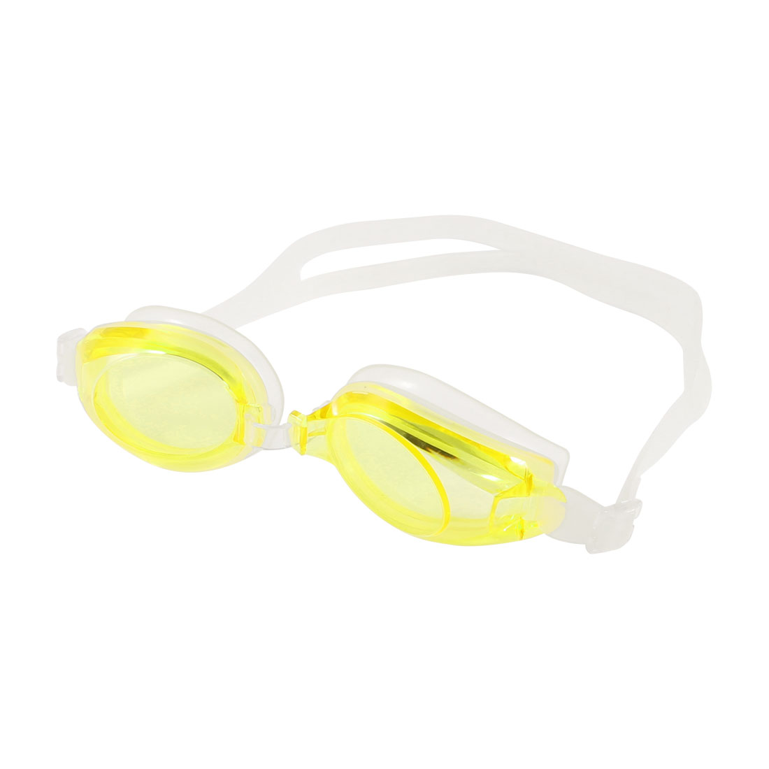 Yellow Clear Adjustable Belt Silicone Swimming Goggles for Children