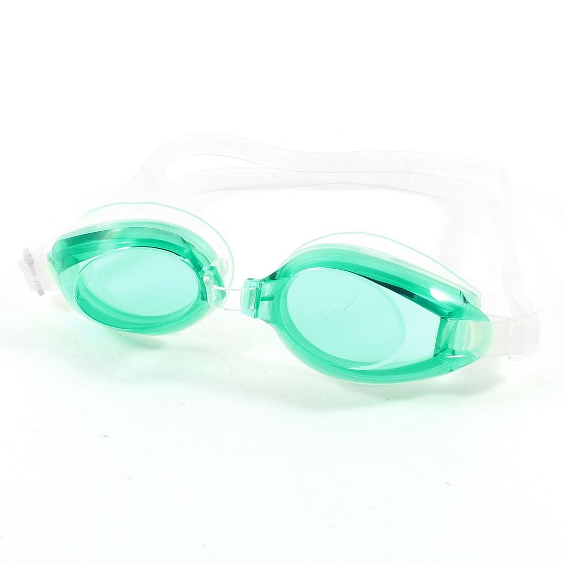 Green Clear Adjustable Silicone Swim Swimming Goggles for Kid