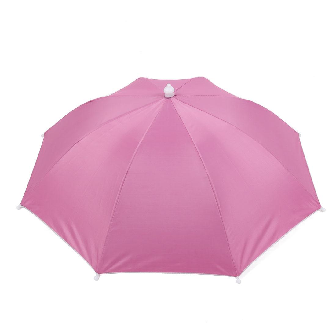 Outdoor Sports Game Fishing Umbrella Hat Headwear Fushsia