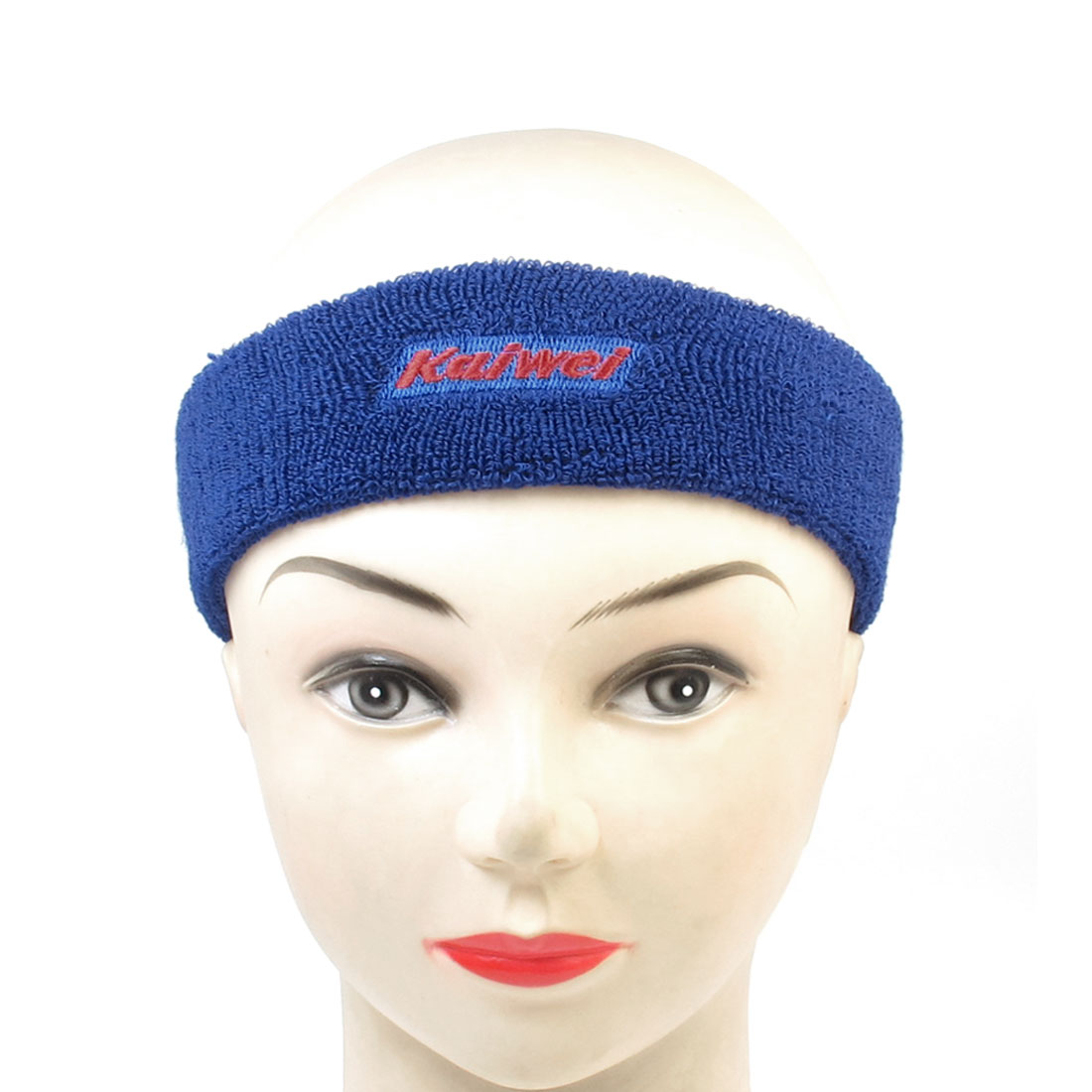 Blue Unisex Sports Training Protecting Stretch Headband