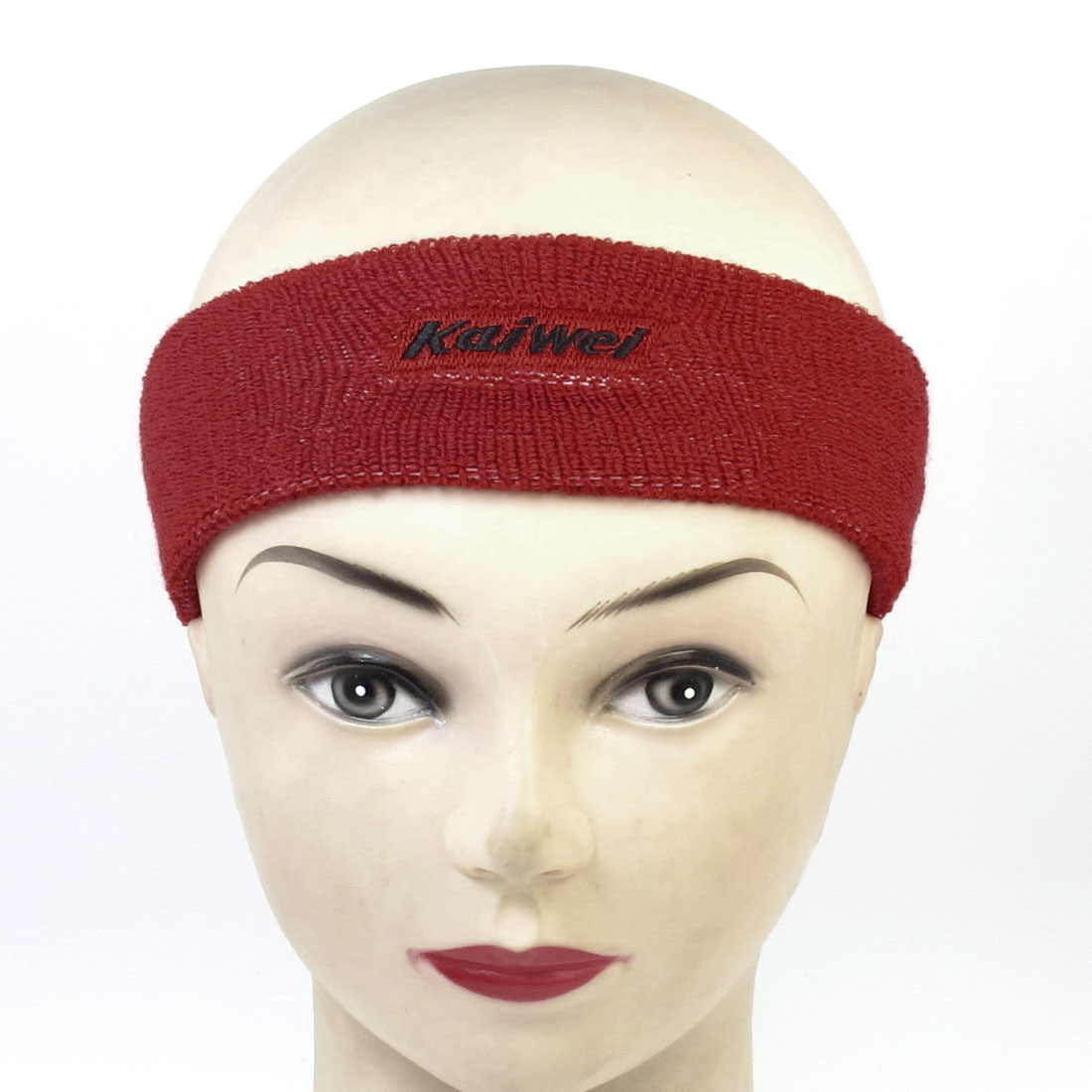 Red Terrycloth Stretchy Tennis Runner Yoga Head Band for Unisex