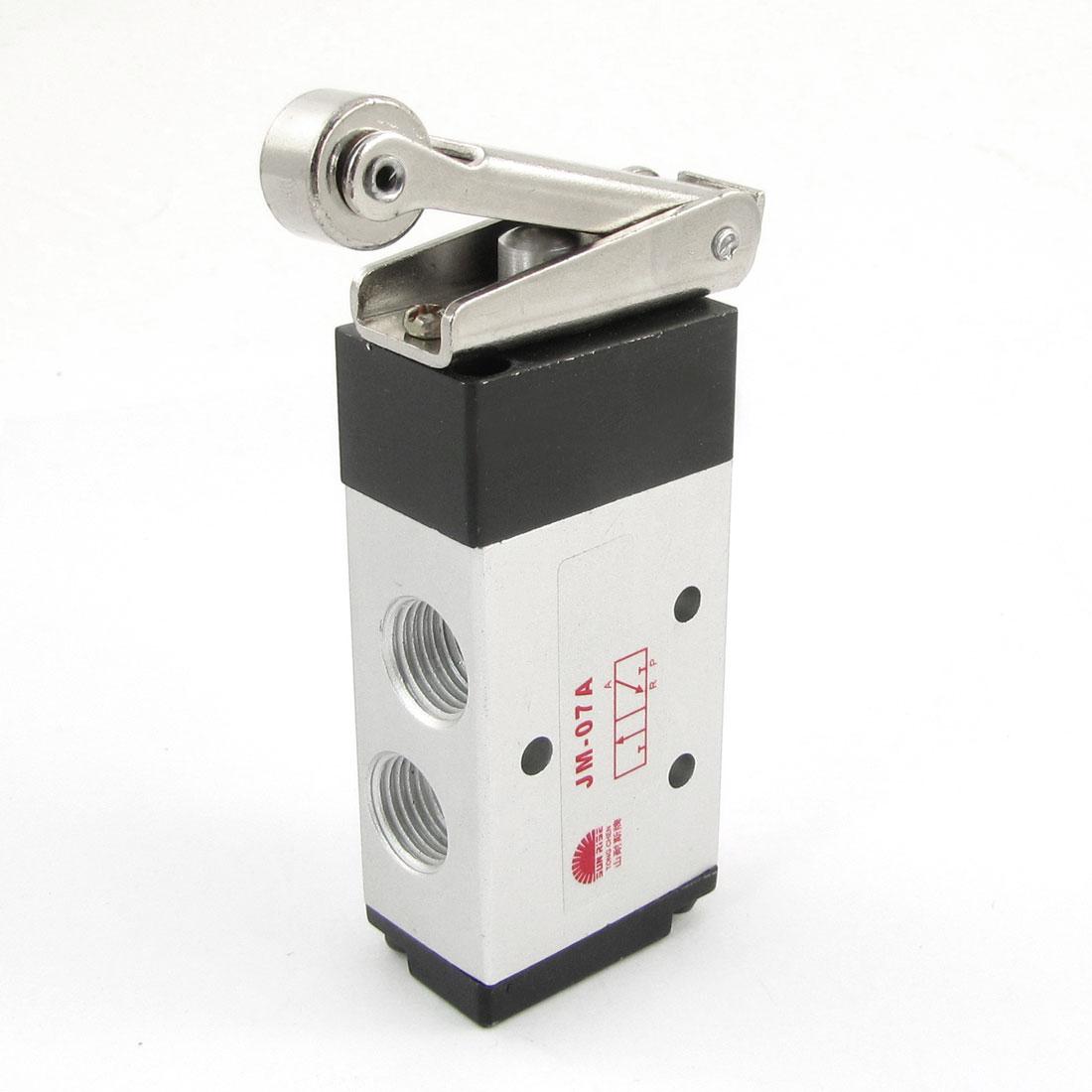 "JM-07A 25/64"" PT 3 Position 5 Way Roller Lever Actuator Air Mechanical Valve"