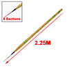 2.15M Length 8 Sections Freshwater Telescoping Fishing Pole Rod Yellow