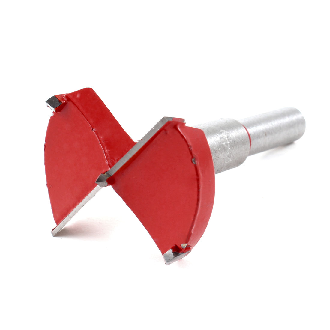 Carpenters Carbide Tipped 45mm Diameter Hinge Boring Bit Red Silver Tone