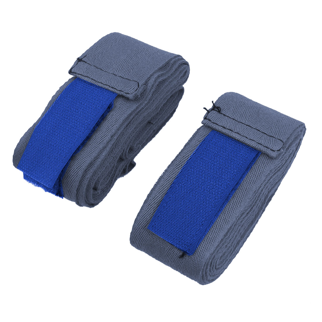Pair Hook Loop Fastener Blue Boxing Hand Wraps Bandages