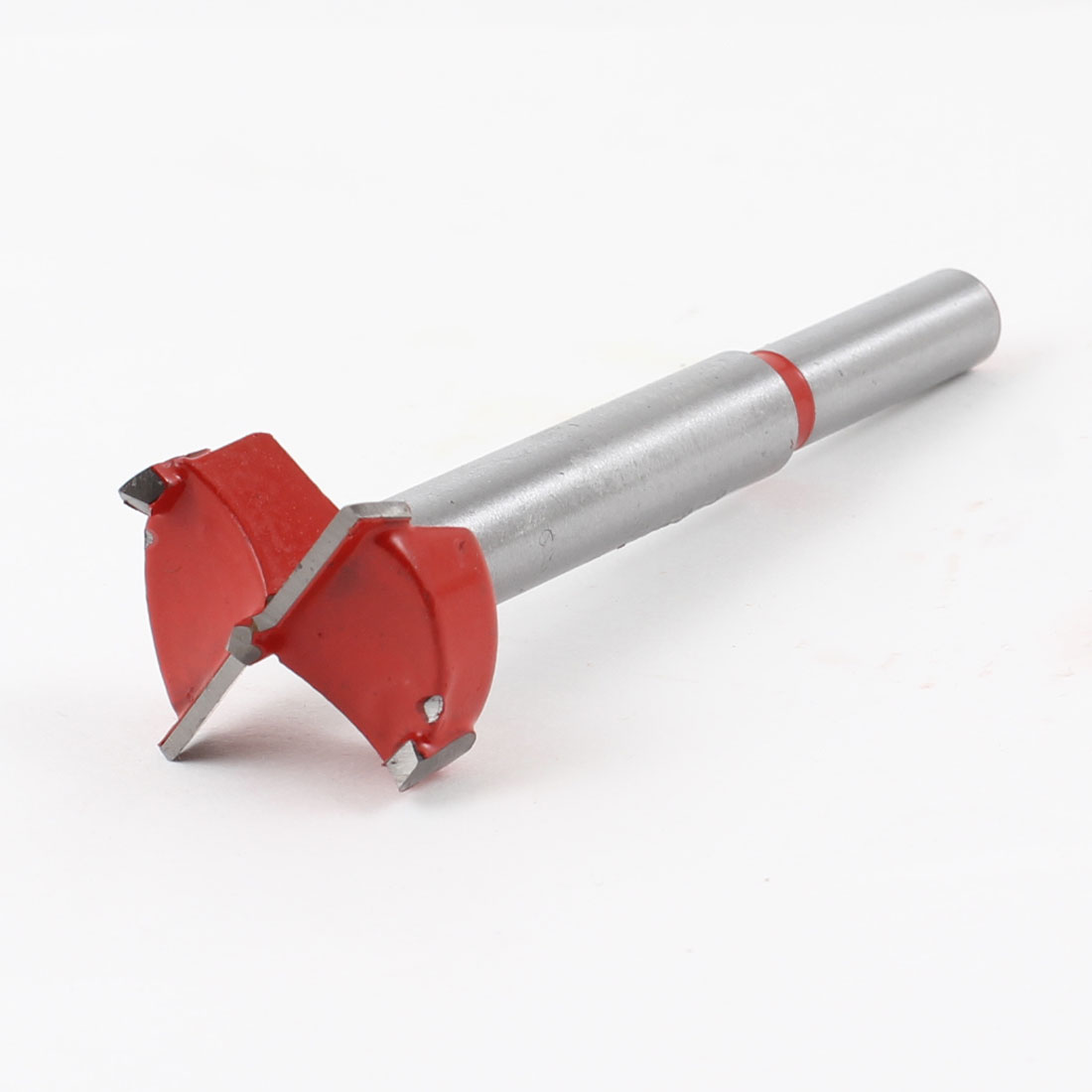 Carpenters Carbide Tipped 25mm Diameter Hinge Boring Bit Red Silver Tone