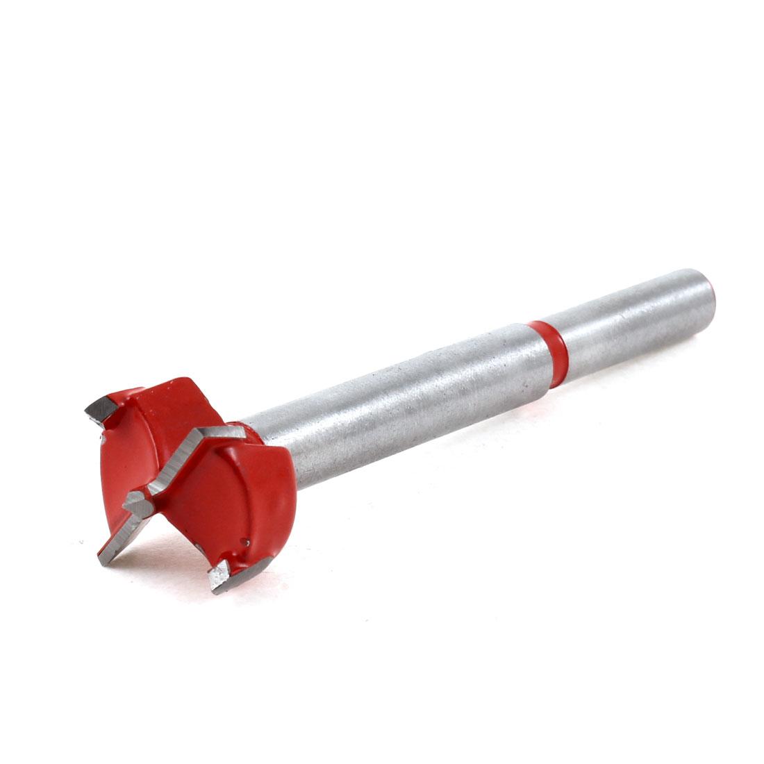 Carpenters Carbide Tipped 20mm Diameter Hinge Boring Bit Red Silver Tone