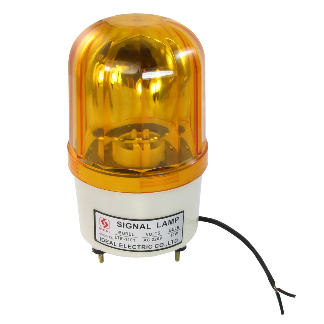 220V AC 10W Industrial Orange Cylinder Signal Tower Light Lamp