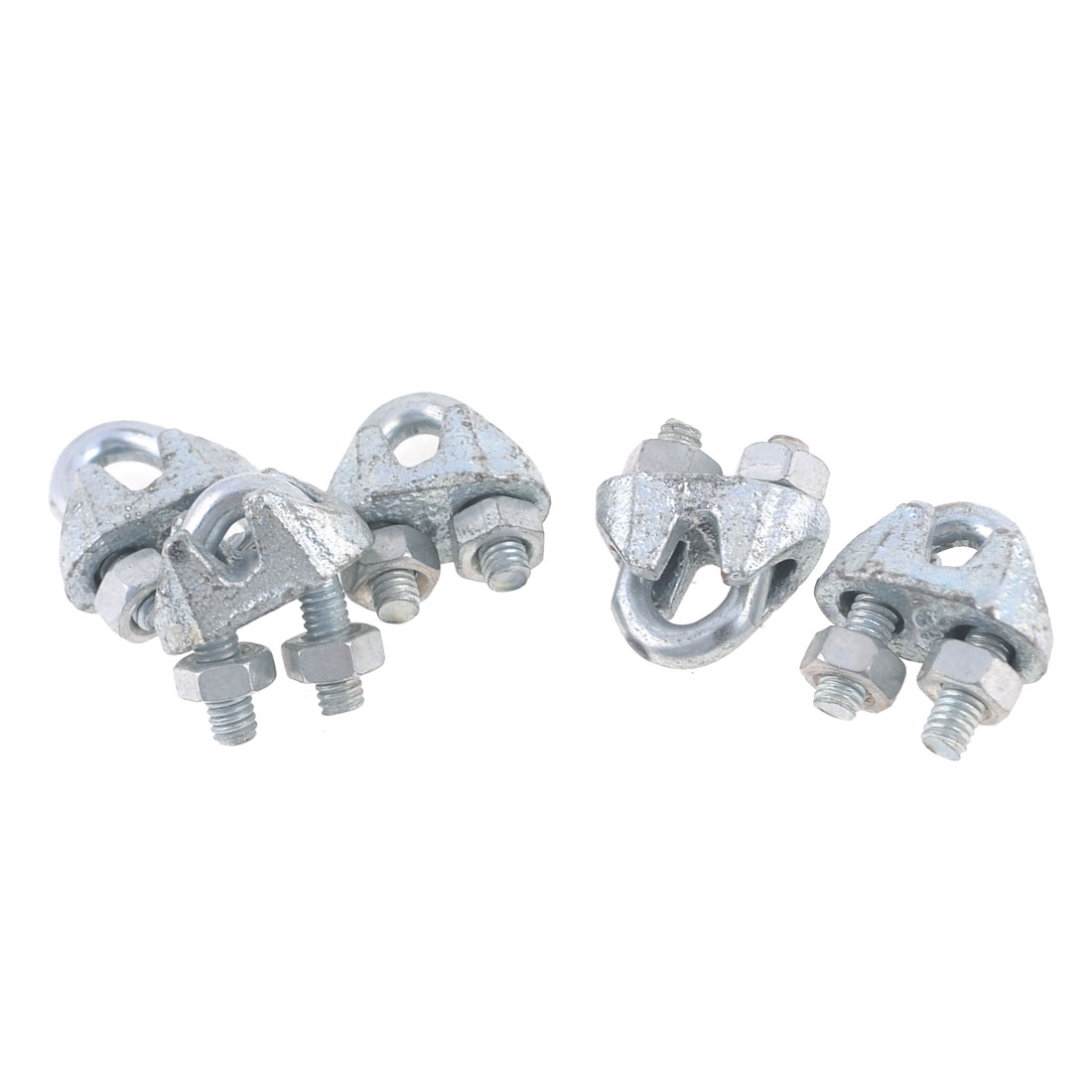 "5 Pcs Screwed Fastener U Bolt Clamp Clips for 4mm 5/32"" Wire Rope"