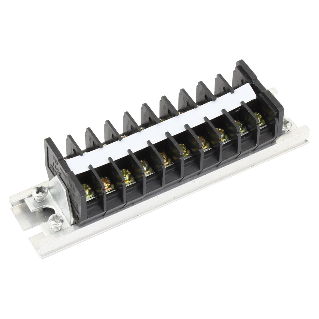 660V 15A Double Rows 10P 10 Positions Barrier Strip Screw Terminal Block