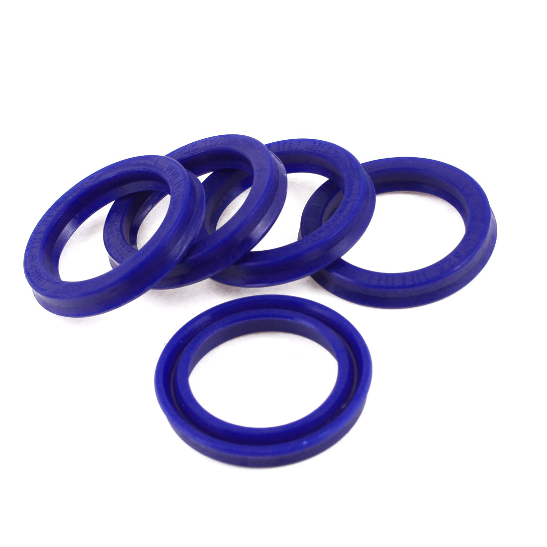 25mm x 35mm x 6mm Blue PU Double Lip Dust Resistant Oil Seal Ring 5 Pcs