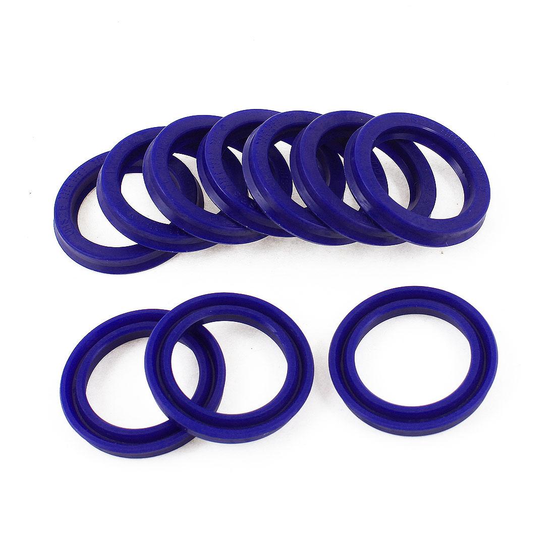 25mm x 33mm x 6mm Blue PU Oil Seal Dust Sealing Ring Gaskets 10 Pcs