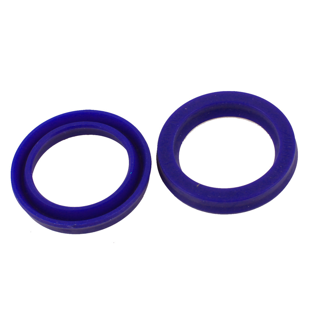 30mm x 45mm x 6mm Blue Polyurethane PU Dust Resistant Oil Seal Ring Pair
