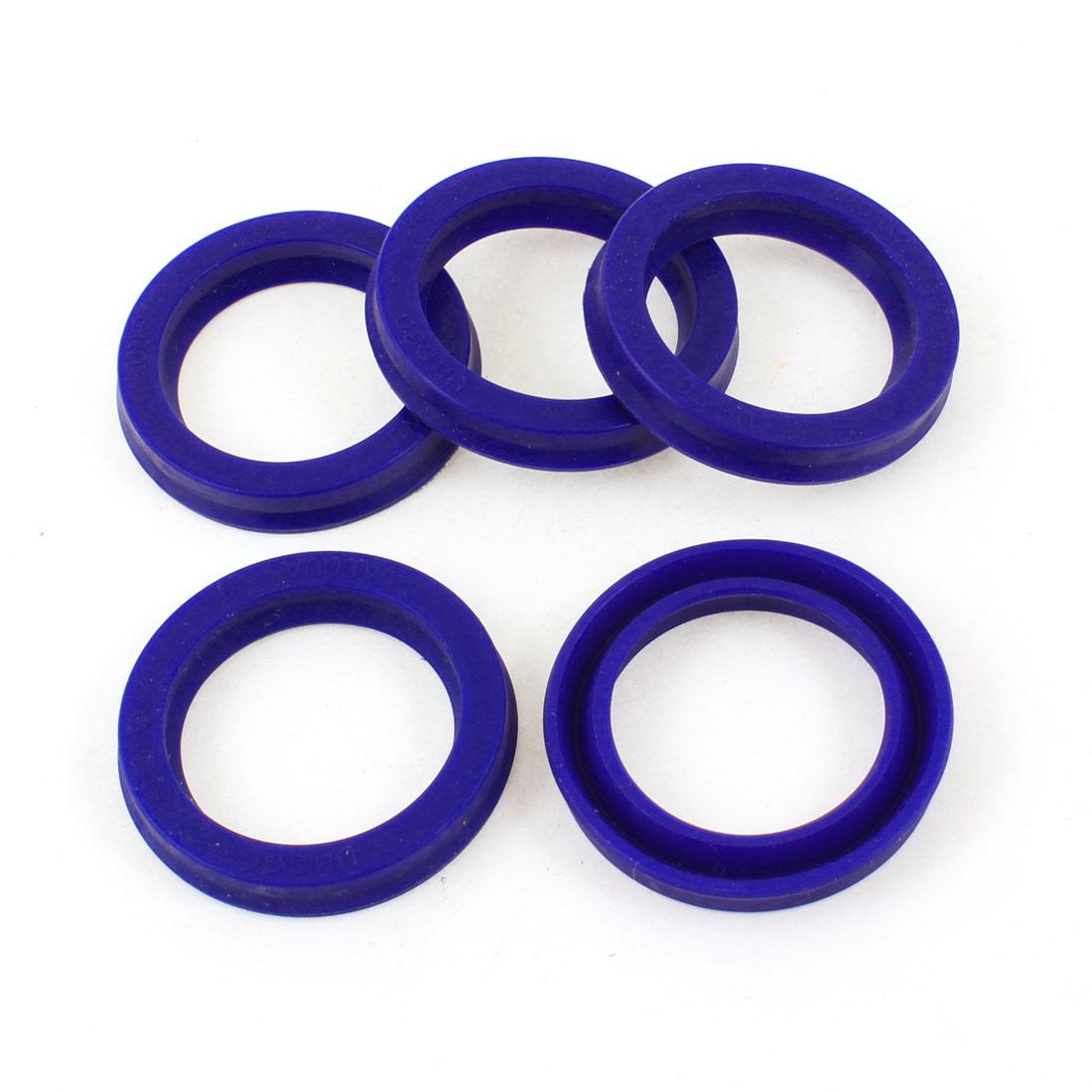 30mm x 40mm x 6mm Blue PU Oil Seals Dust Sealing Ring Cushion 5 Pcs