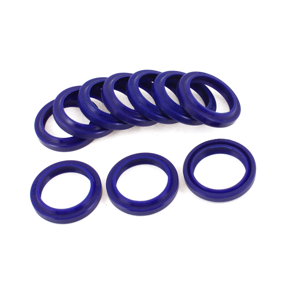25mm x 35mm x 6mm Blue Round PU Dust Proof Oil Seal Ring Grommets 10 Pcs