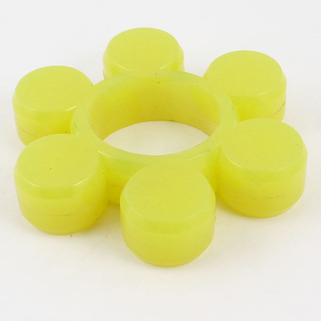 98mm x 20mm 6 Cylinder Petal Drive Shaft Rubber Coupler Damper Yellow