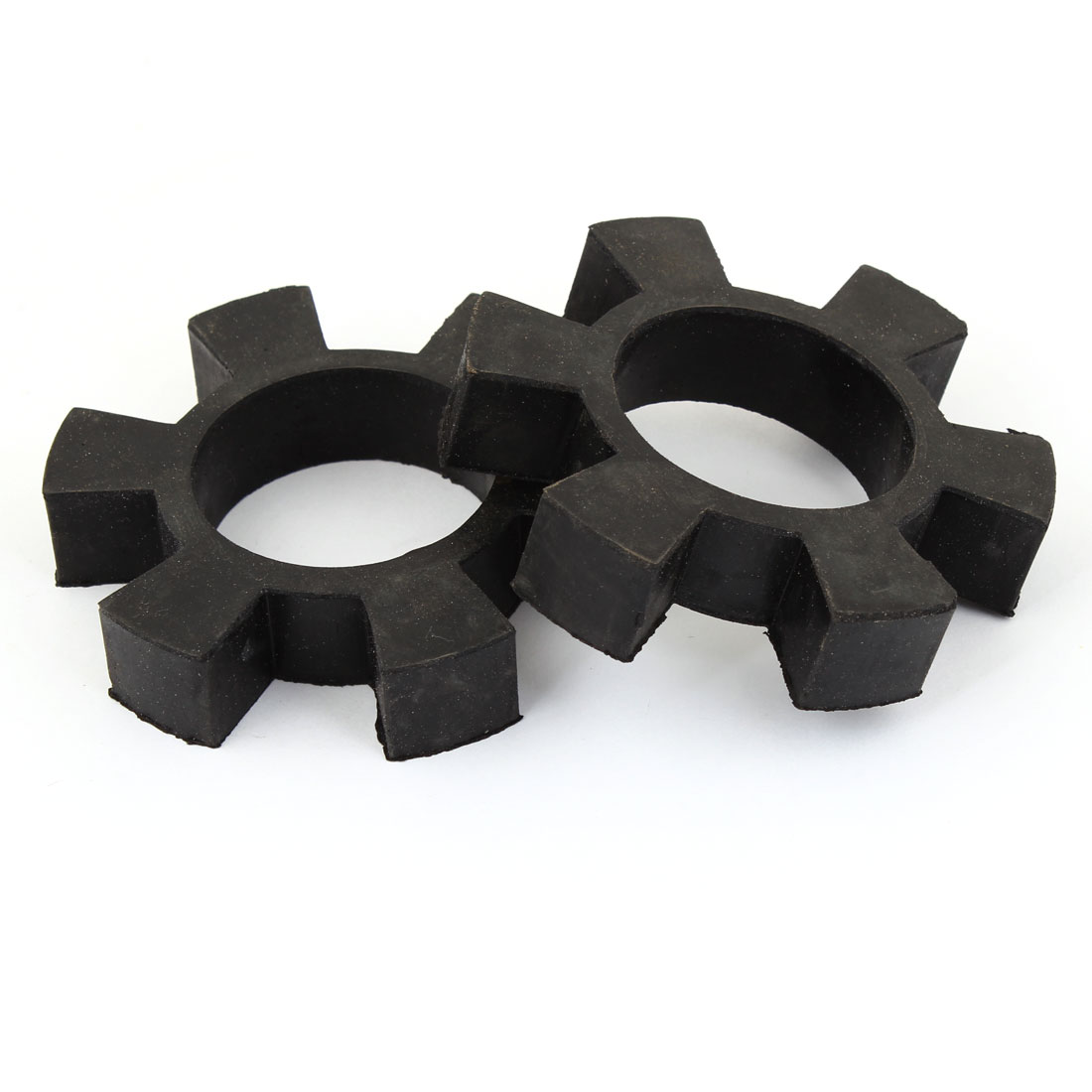 2 Pcs 79mm OD 6 Petals Rubber Driveshaft Coupler Damper Insert Black