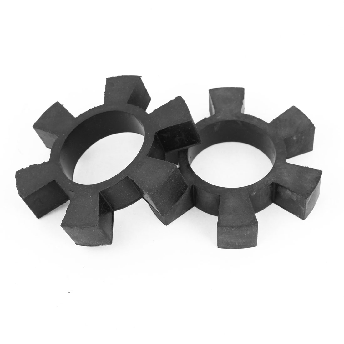 2 Pcs Black 6 Petals Rubber Engine Damper Coupling Insert Spider 3.7""